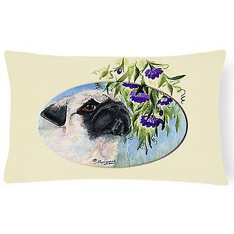 Pillows carolines treasures ss8064pw1216 pug decorative canvas fabric pillow