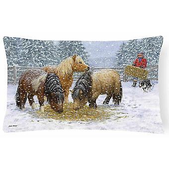Pillows carolines treasures asa2206pw1216 shetland ponies fabric decorative pillow