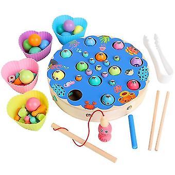 Věk 4+ děti hračky montessori dřevěné mozkové tréninkové mušlí puzzle deska(3)