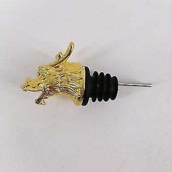 Scandinavische stijl zinklegering dierlijke thema wijn stop en pourer (Kraan Golden)