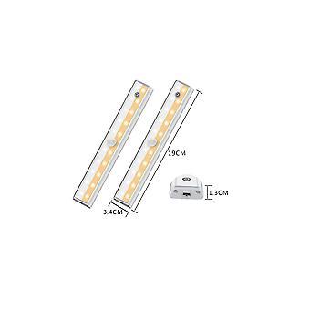 2pcs von Dual Color wiederaufladbare Led Menschlicher Körper Sensor Licht Schlafzimmer Fernbedienung Smart Nachtlicht Touch Cabinet Licht (menschliche Körper Fernbedienung Se