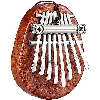 カリンバ8キー親指ピアノとランヤードポータブルミニピアノ楽器
