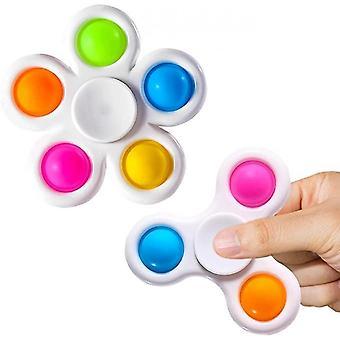 2 Pcs Fidget Spinner Anti Stress Spinning Funny Flip Toys