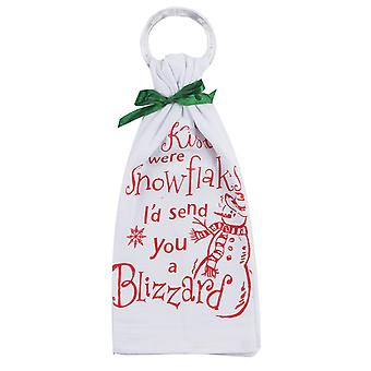 If Kisses Were Snowflakes Krinkle Flour Sack 26 Inch Kitchen Dish Towel Kay Dee