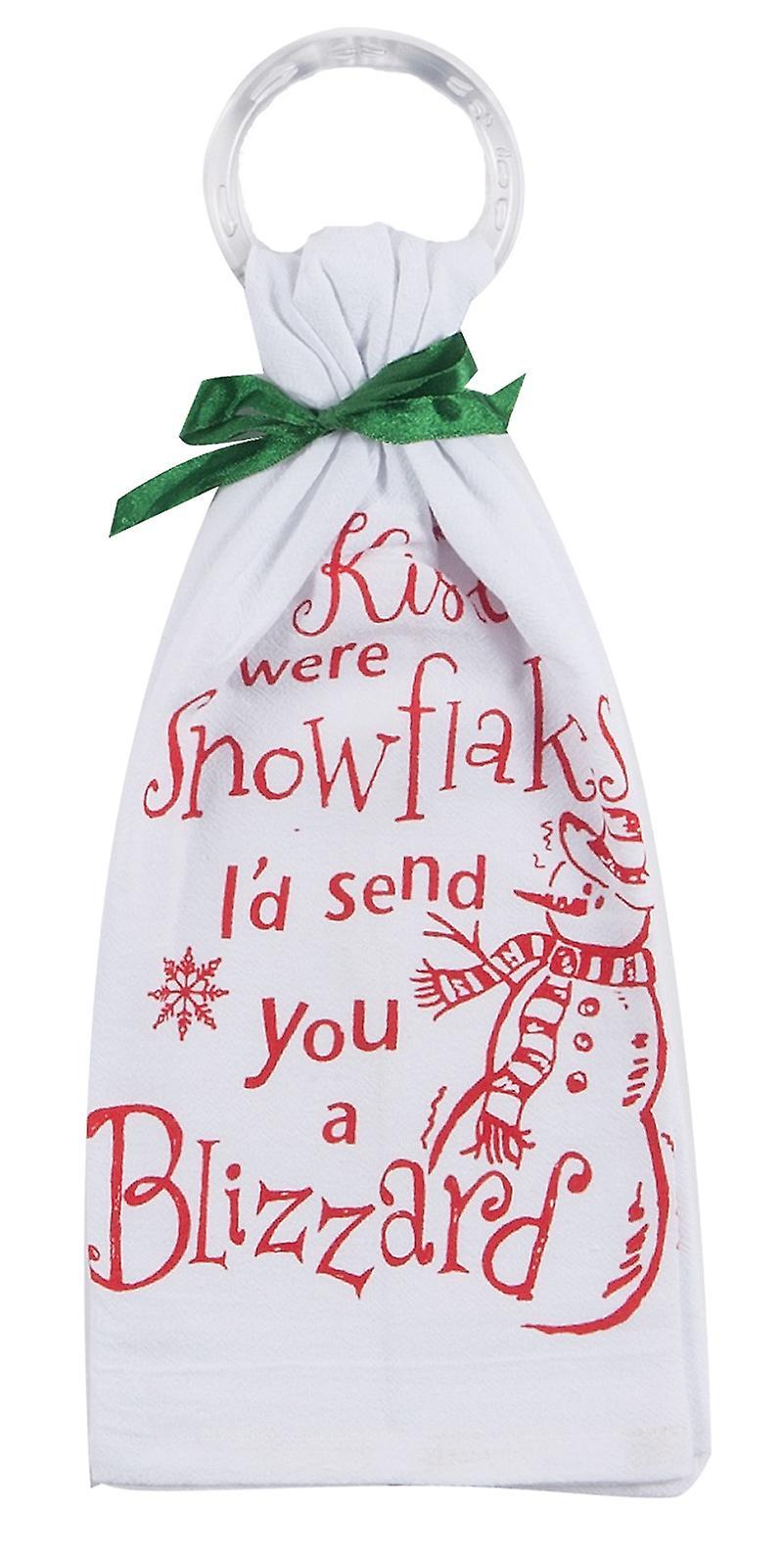 If Kisses Were Snowflakes Krinkle Flour Sack 26 Inch Kitchen Dish Towel Kay Dee