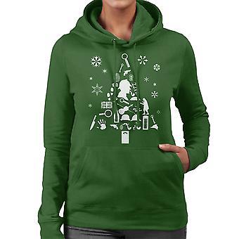 Christmas Tree Sherlock Holmes Women's Hooded Sweatshirt