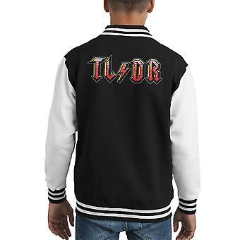 Too Long Didnt Read ACDC Logo Kid's Varsity Jacket
