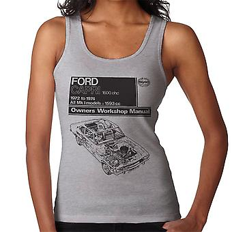 Haynes Workshop Manual Ford Capri 1600 OHC Black Women's Vest