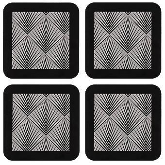 Ladelle Aisha Hardboard Set of 4 Coasters