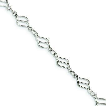 925 Sterling Silber solide Phantasie poliert Knöchel Frühling Ring Schmuck Geschenke für Frauen - Länge: 9 bis 10