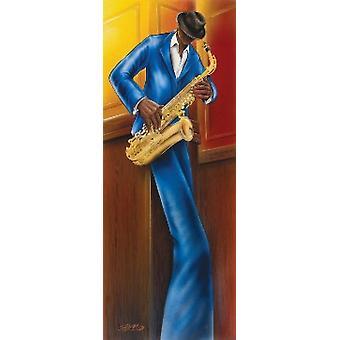 מגרני ג'אז I סקסופון פוסטר הדפסה פוסטר
