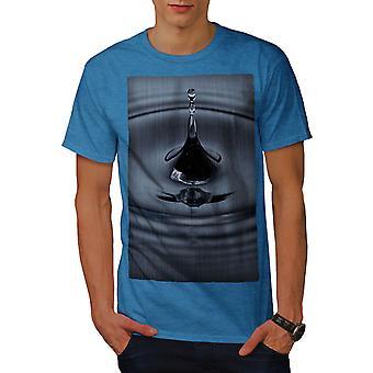 Water Drop Art Nature Men Royal BlueT-shirt | Wellcoda