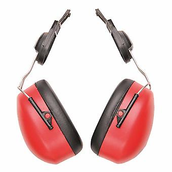Portwest - Endurance Clip-On Ear Protector Defenders Muffs Red Regular
