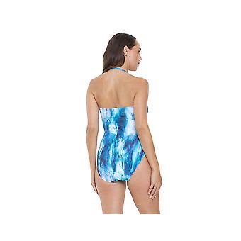 Seaspray SY007034 vrouwen blauwe Tie-Dye kostuum een stuk zwembroek