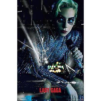 Леди Гага - живой плакат печать