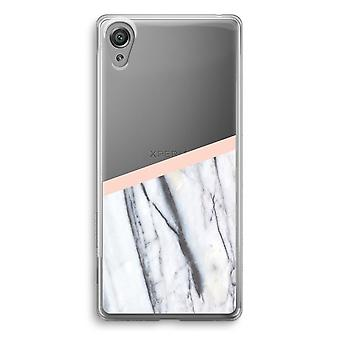 Sony Xperia XA1 przezroczyste etui (Soft) - dotyk brzoskwinia