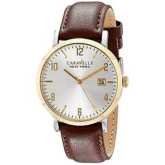 Caravelle New York Men's 44B108 Analog Display Analog Quartz Brown Watch