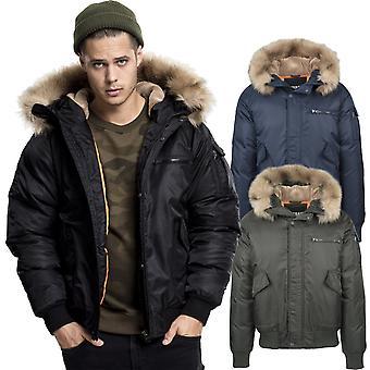 Urbanas classics - chaqueta de invierno piloto de bombardero pesado abrigo con capucha
