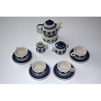 Pop service compleet, 4 couverts, karaf, warmer, melk, suiker, unieke 7, BSN m-1902