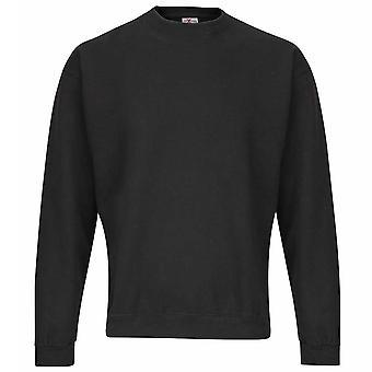 RTXtra Mens Classic Colours Long Sleeve Crew Neck Sweatshirt Jumper