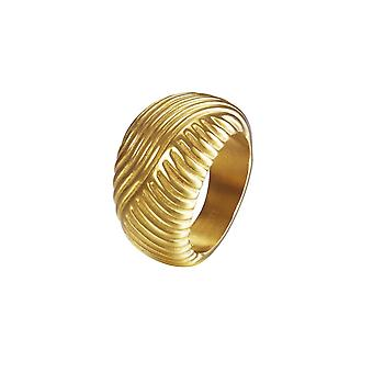 Joop vrouwen ring edelstaal goud zilver golven JPRG10609B