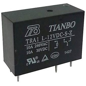 Tianbo Electronics TRA1 L-12VDC-S-Z PCB relay 12 V DC 12 A 1 change-over 1 pc(s)