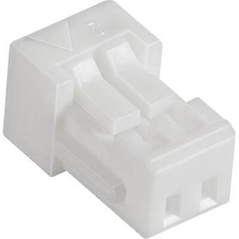 JST SHR-06V-S Socket behuizing - kabel SH serie Totaal aantal pinnen 6 Contact afstand: 1 mm