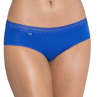Sloggi Women EverNew Lace Hipster Brief, Blue, Size 14