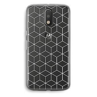 Motorola Moto G4/G4 Plus Transparent fodral (Soft) - kuber svart och vitt