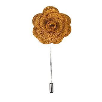 Ciemny złoty Handmade kwiat/Rose klapy Pin do noszenia z męskie Bluza treningowa, żakiet, marynarka smokingowa lub marynarka smokingowa