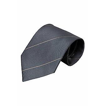 Grijze zijden stropdas Noto 01