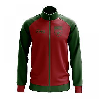 Marokko käsite jalkapallo Track Jacket (punainen)