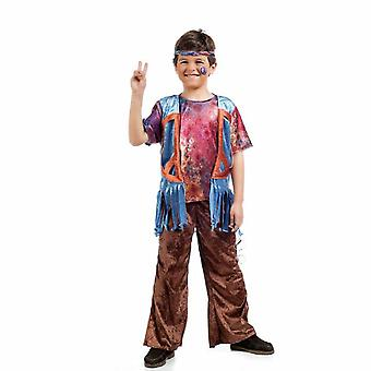Hippie jongen Bosco kind kostuum liefde vrede bloem kind kostuum