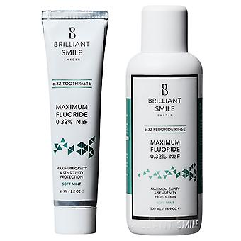 2-pack Brilliant Smile O. 32 Dentifrice 65ml - Flouride Rinse 500ml