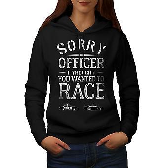 Oficial Funy Race Women BlackHoodie | Wellcoda