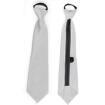 弓し、ネクタイ サテン ネクタイ シルバー