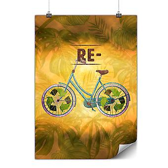 Matte or Glossy Poster with Recycle Global Green | Wellcoda | *y3478