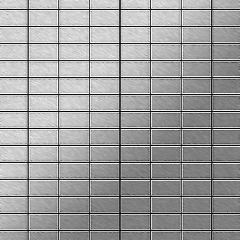 Kovová mozaika nerezová slitina Bauhaus-S-S-MB