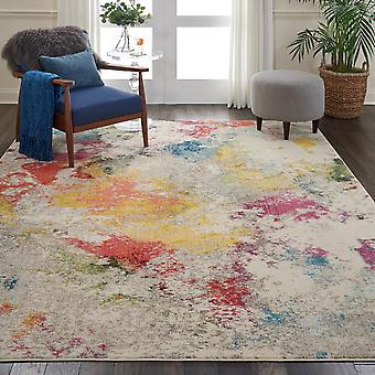 Celestial CES12 Ivory Multi  Circle Rugs Funky Rugs