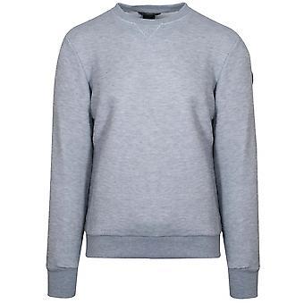 Colmar Woven Grey Metal Logo Sweatshirt
