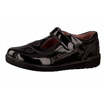 مدرسة شخصين ليزا البنات ريكوستا أحذية سوداء براءات الاختراع والجلود
