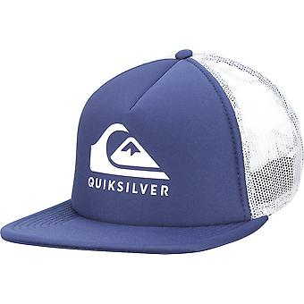 Quiksilver Mens Foamslayer 5-panel Trucker Snapback Hat - Navy Blazer/White