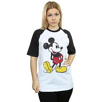 Disney Women's Mickey Mouse Classic Kick Baseball T-Shirt