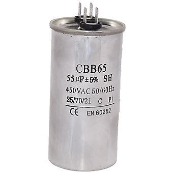 Condensatore di avviamento motore universale 55UF/MFD AC 450v