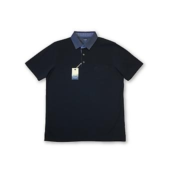 Olyp Casual Two Ply polo in dark navy