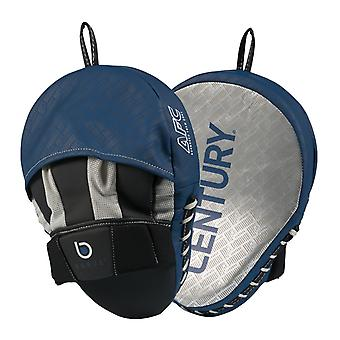 Century Brave Curved Punch Mitts Silver/Navy