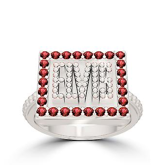 Elvis Large Ruby Ring In Sterling Silver