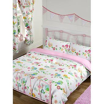 Tweet Tweet Uccelli Doppia Duvet Cover e Pillowcase Set