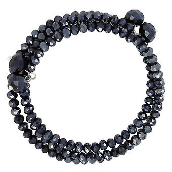 Eternal Collection Glorious Hematite Crystal Wrap Bracelet