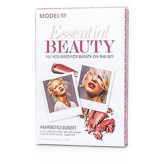 ModelCo frumusete esentiala (1X fard de obraz pudră 1X Shine Luciu de buze Ultra)-apus Amaretto-2 buc